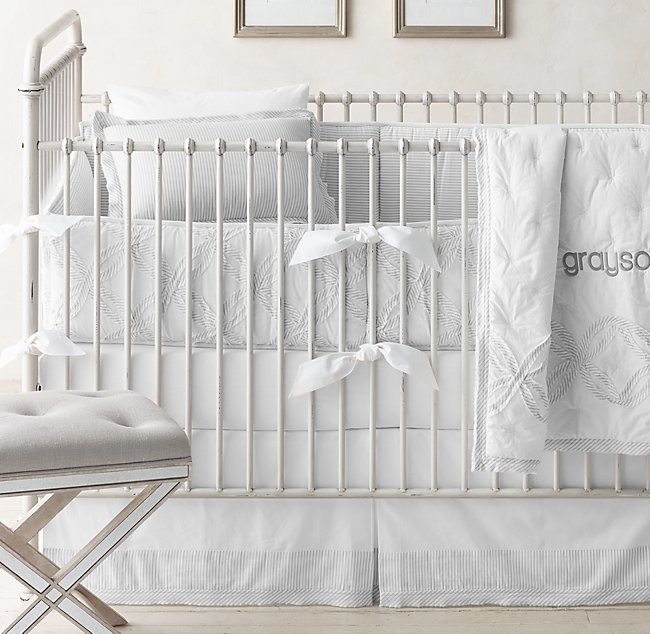Vintage Washed Percale Nursery Bedding
