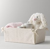 Nursery Canvas Storage Caddy - Pink Star