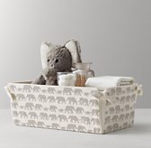 Nursery Canvas Storage Caddy - Grey Elephant