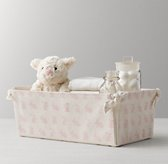 Nursery Canvas Storage Caddy - Pink Bunny