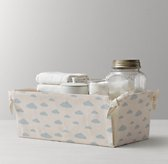 Nursery Canvas Storage Caddy - Blue Cloud