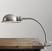Academy Task Clip Lamp - Antique Brushed Nickel