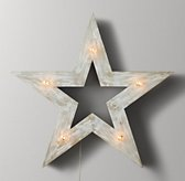 Illuminated Wooden Marquee Large Star - Weathered White