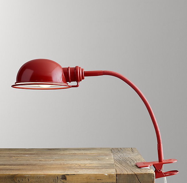 Academy Task Clip Lamp Red