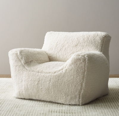 Luxe Sherpa Bean Bag Chair