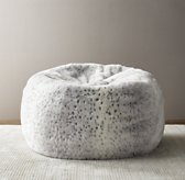 Luxe Faux Fur Bean Bag - Grey Snow Leopard