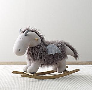 Wooly Plush Animal Rocker Dragon