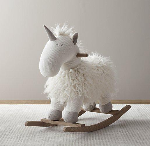 Wooly Plush Animal Rocker Unicorn