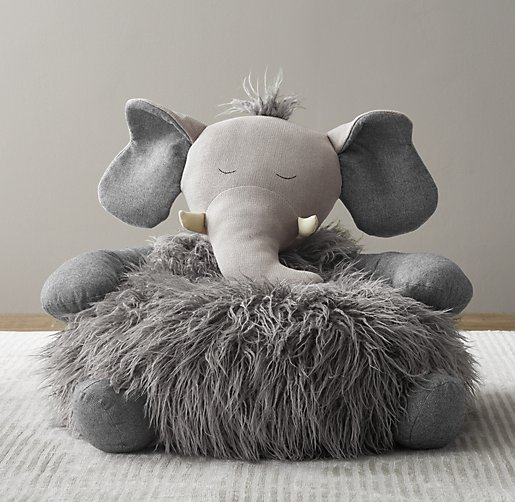 wooly plush elephant chair. Black Bedroom Furniture Sets. Home Design Ideas