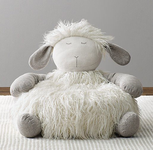 Wooly Plush Lamb Chair