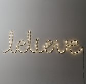 "Starry Light Wall Décor - ""Believe"""