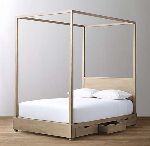 Canopies And Storage : Callum drawer storage canopy bed