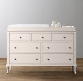 Adele wide dresser & topper set