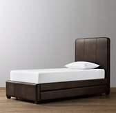 Parker Leather Bed with Trundle