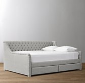 Devyn Tufted 2-Drawer Storage Daybed - Frosted White