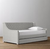 Devyn Tufted Daybed With Trundle - Frosted White