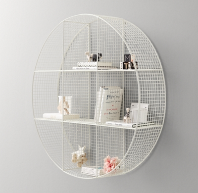 Wire Cubby Round Shelf White Rh Rhbabyandchild Com Basket Wall