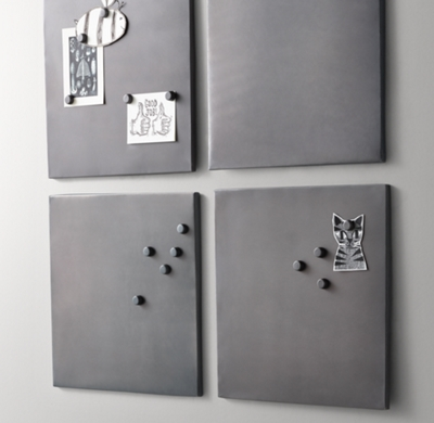 Metal Magnet Board Square