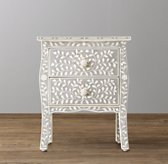 Amira Mosaic Inlay 2-Drawer Nightstand