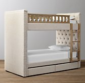 Chesterfield Tufted 2-Drawer Storage Bunk Bed
