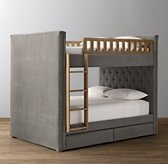 Chesterfield Tufted Velvet 2-Drawer Storage Bunk Bed