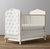 Colette Tufted Crib - Aged White