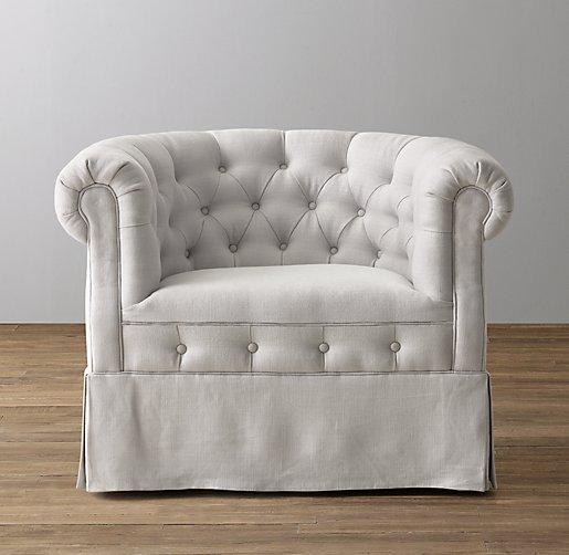 Tufted Tub Chair Swivel Glider