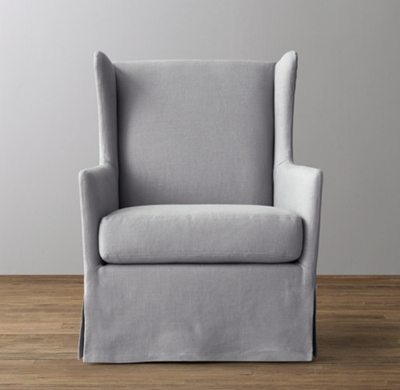 Shown In Grey Belgian Linen.