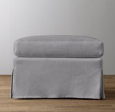 Classic Wingback Ottoman Replacement Slipcover