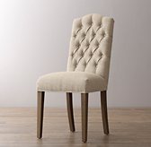 Tufted Camelback Desk Chair - Burnt Oak
