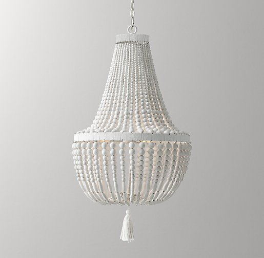 Dauphine Wood Empire Chandelier Weathered White
