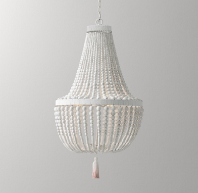 Very best Dauphine Wood Empire Chandelier - Weathered White NB21