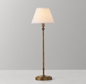 Ellis Table Lamp with Shade - Antiqued Brass