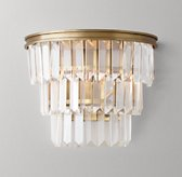 Alaine Crystal Sconce - Antiqued Brass