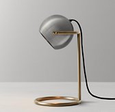 Cecil Task Table Lamp - Aged Pewter with Aged Brass