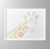 Animal Portrait Metallic Foil Art - Giraffe