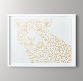 Animal Portrait Metallic Foil Art - Jaguar