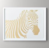 Animal Portrait Metallic Foil Art - Zebra
