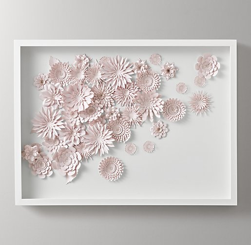 Hand Folded Paper Flower Art Large Pink