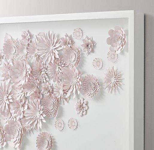 Hand Folded Paper Flower Art Large Pink