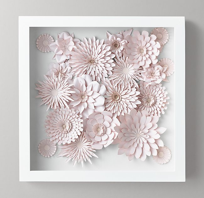 Hand Folded Paper Flower Art Small Pink