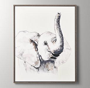 67fa8a2e9 Watercolor Safari Animal Art - Elephant