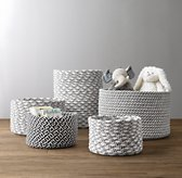 Black & White Braided Wool Baskets