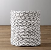 Black & White Braided Wool Hamper