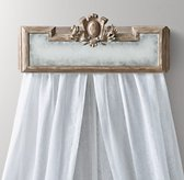 Juliette Bed Crown - Antique Grey Linen