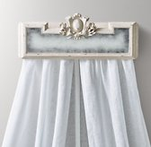Juliette Bed Crown - Antique White