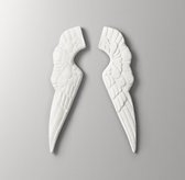Small Antique White Angel Wings