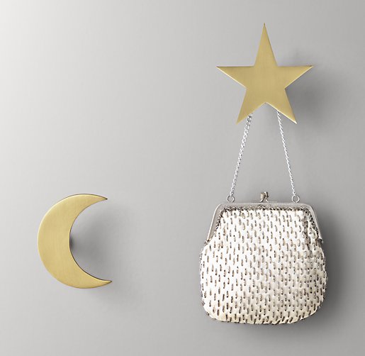 Night Sky Metal Wall Hooks Set Of 2 Br