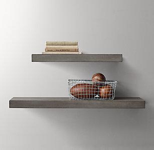 Floating Wood Shelf Ash
