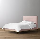 Pfeiffer Velvet Bed - Aged Brass